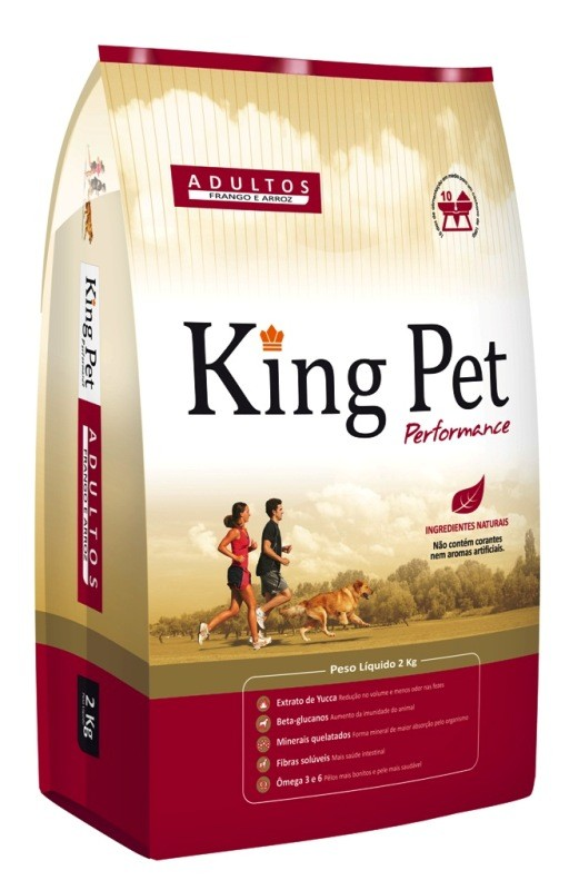 Alimento para Cães - King Pet Performance Adulto - Frango e Arroz 2kg