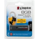 Pen Driver 8GB Kingston - DataTraveler Locker+